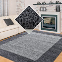 Shaggy pile living room Shaggy carpet 2-Color pile height 3cm grey Light grey