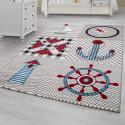 Children's carpet, kids room carpet with motifs Navy Kids 0510 Beige