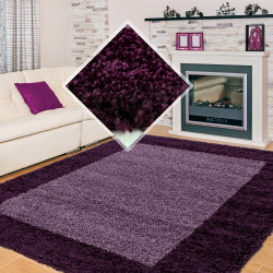 Shaggy pile living room Shaggy carpet 2-Color pile height 3cm Purple violet