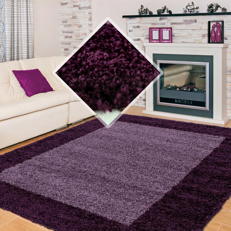 Structure à fibres longues Salon Shaggy Tapis 2 Couleurs de la hauteur de  la pile de 3cm violet Violet