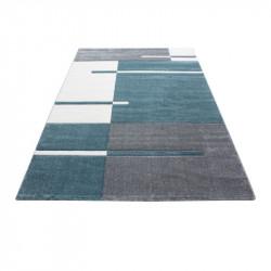 Modern Designer contour cut 3D living room carpet Hawaii 1310 Blue