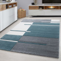 Modern Designer contour cut 3D living room carpet Hawaii 1310 Blue