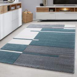 Moderner Designer Konturenschnitt 3D Wohnzimmer Teppich Hawaii-1310 Blau