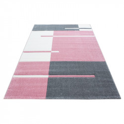 Modern Designer contour cut 3D living room carpet Hawaii 1310Rosa