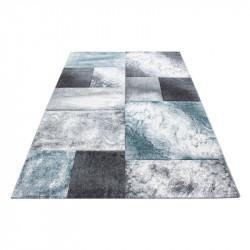 Modern Designer contour cut 3D living room carpet Hawaii 1710 Blue