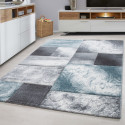 Modern Designer contour cut 3D living room carpet Hawaii 1710 Blue