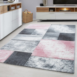 Modern Designer contour cut 3D living room carpet Hawaii 1710 Pink