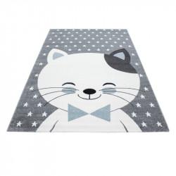Tappeto per bambini Tappeto per cameretta con motivi gatto Kids 550 Blu