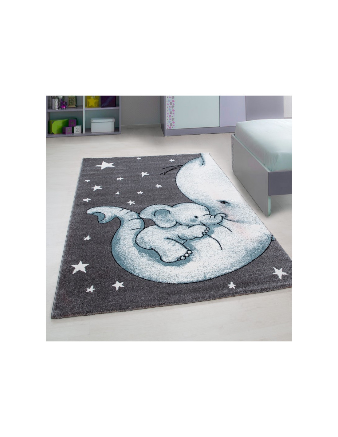 Kinderteppich Kinderzimmer Teppich mit motiven Katze Kids 560 Blue