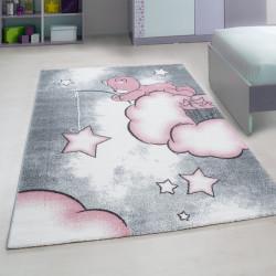 Kinderteppich Kinderzimmer Teppich mit motiven Katze Kids 580 Pink