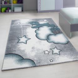 Kinderteppich Guardería Alfombra con motivos de Gato Niños 580 Blue