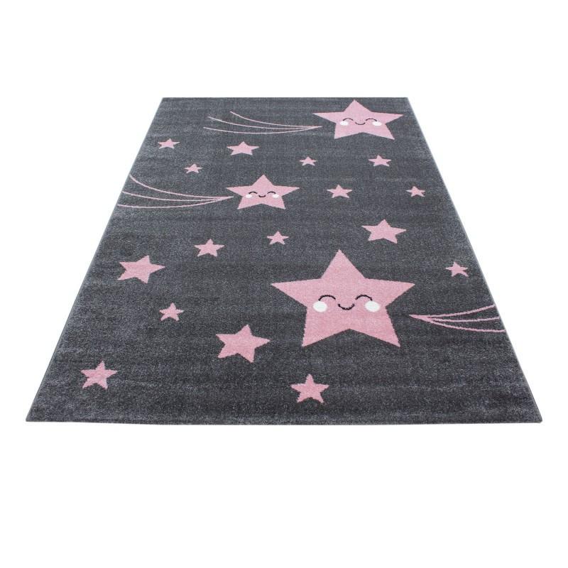 Kinderteppich Kinderzimmer Teppich Mit Motiven Stern Kids 610 Pink