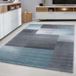 Moderne Designer 3D contour cut woonkamer tapijt LUCCA-1810 BLAUW