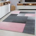 Moderner Designer Konturenschnitt 3D Wohnzimmer Teppich  LUCCA 1810 PINK