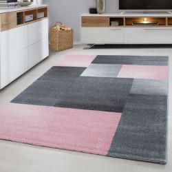 Moderne Designer 3D contour cut woonkamer tapijt LUCCA -810 ROZE