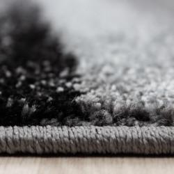 Modern designer contour cut 3D living room rug LUCCA 1840 Black