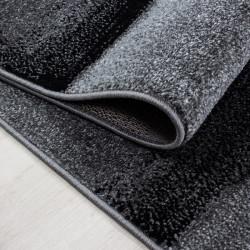 Moderner Designer Konturenschnitt 3D Wohnzimmer Teppich  LUCCA 1840 Black