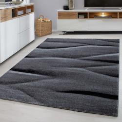 Moderne Designer 3D contour cut woonkamer tapijt LUCCA-1840 Zwart
