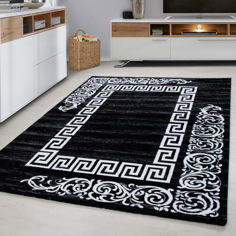 Progettista Moderno Soggiorno Tappeto Miami 6620 Black