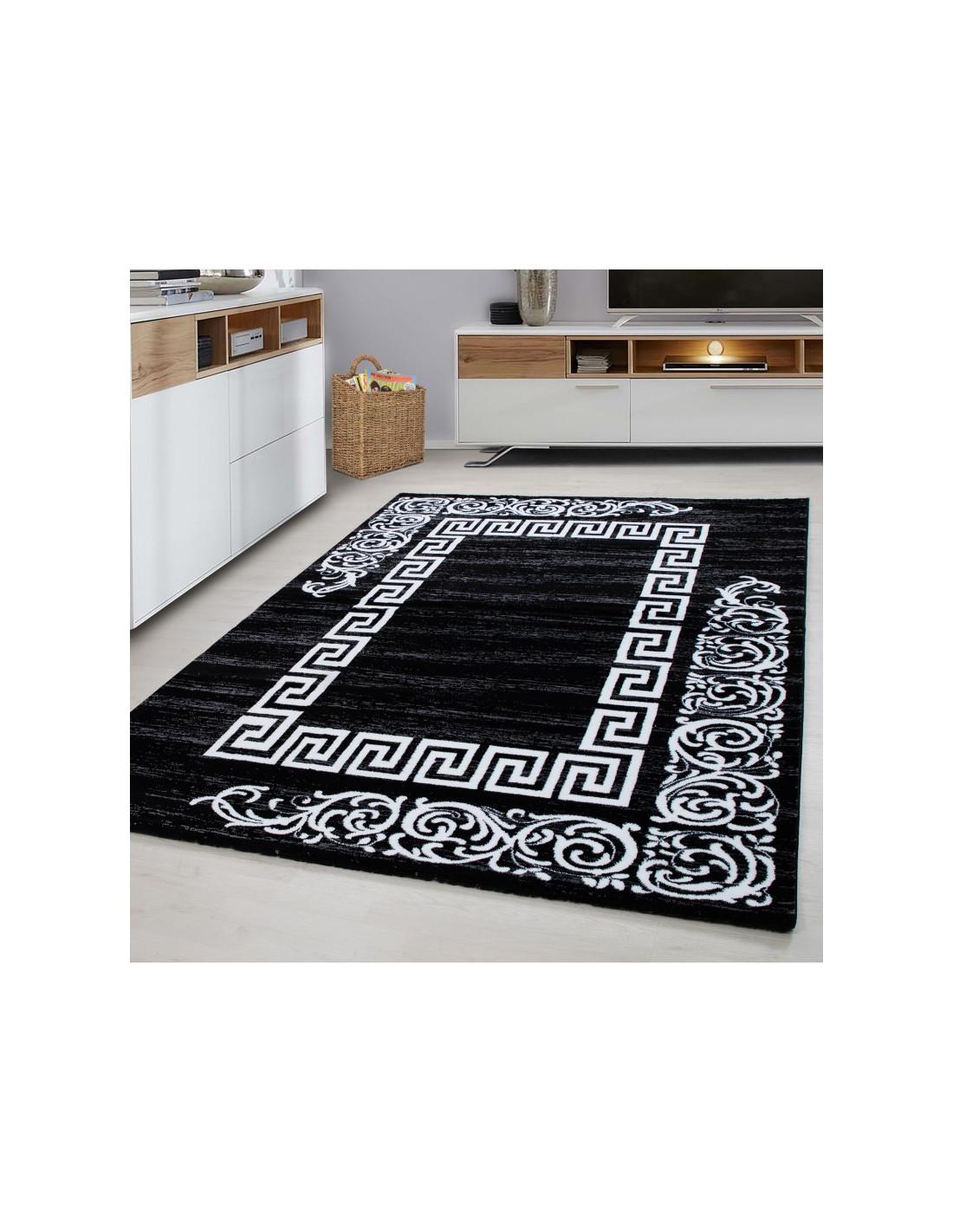 Moderner Designer Wohnzimmer Teppich Miami 6620 Black
