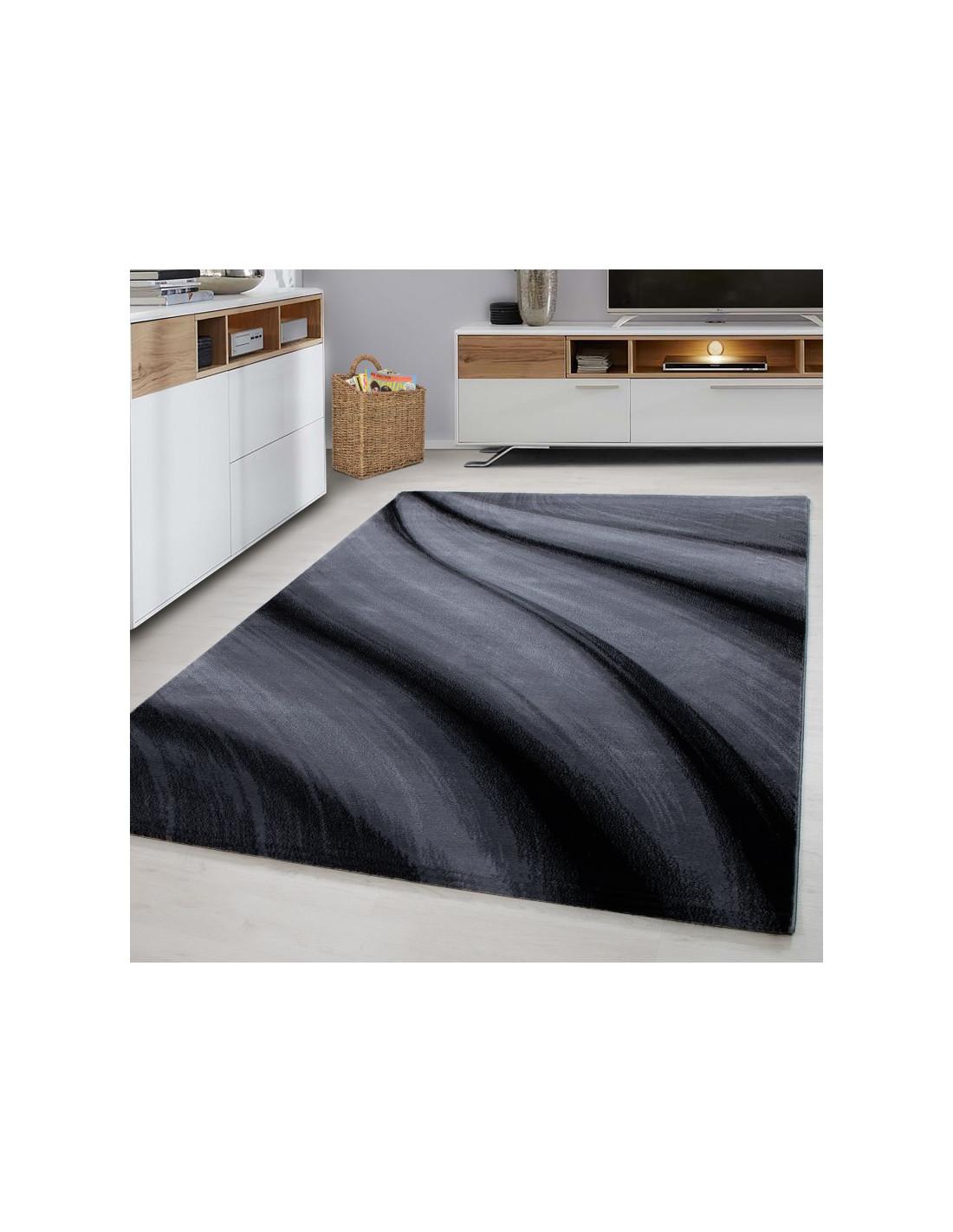 Moderner Designer Wohnzimmer Teppich Miami 6630 Black