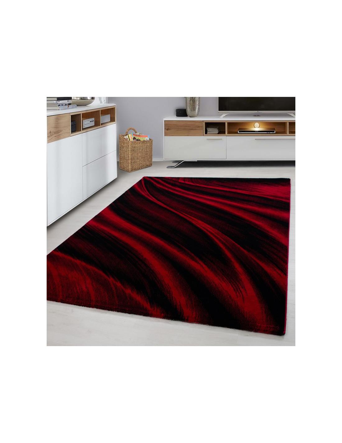 Moderner Designer Wohnzimmer Teppich Miami 6630 Red