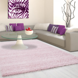 Structure à fibres longues Salon Shaggy Tapis de Parement 3cm unifarbe Rose