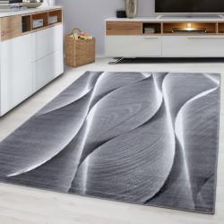 Moderne woonkamer, jeugd kamer, tapijt PARMA 9310 Zwart