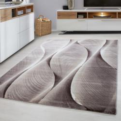 Moderner Designer Wohnzimmer Jugendzimmer Teppich PARMA-9310 Brown