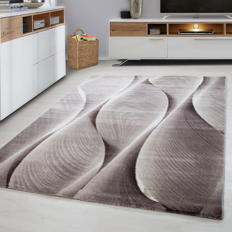 Moderner Designer Wohnzimmer Jugendzimmer Teppich PARMA 9310 Brown