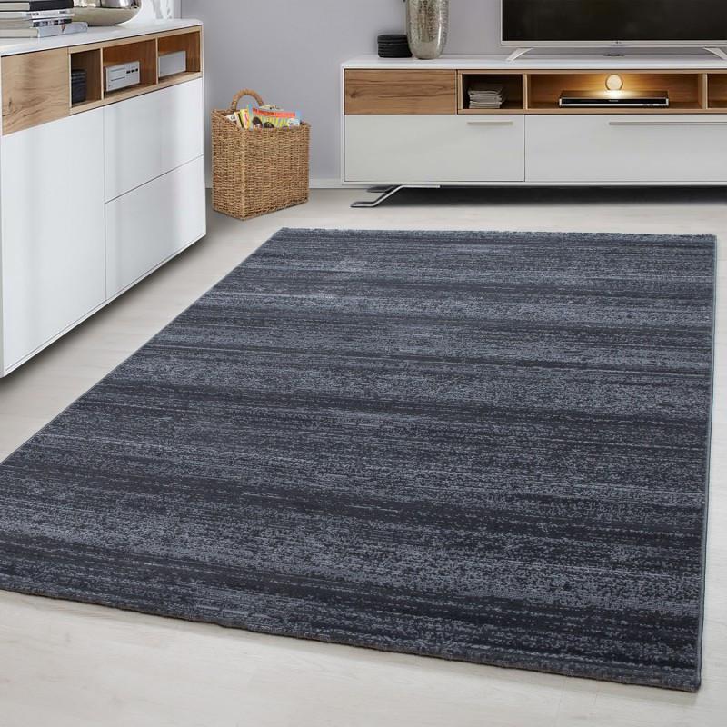 Designer Wohnzimmer Jugendzimmer Teppich Wandmotiv kariert Plus 8000 Grey