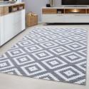 Designer Wohnzimmer Jugendzimmer Teppich Wandmotiv kariert Plus 8005 Grey
