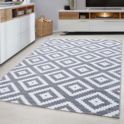 Designer Wohnzimmer Jugendzimmer Teppich Wandmotiv kariert Plus-8005 Grey