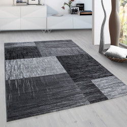 Modern Designer Living Room Teen Bedroom Rug Plus 8001 Black