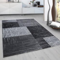 Moderner Designer Wohnzimmer Jugendzimmer Teppich Plus 8001 Schwarz