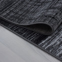 Modern Designer Living Room Teen Bedroom Rug Plus 8001 Black