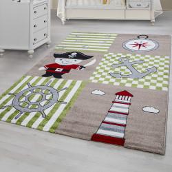 Kinderteppich Kinderzimmer Teppich mit motiven Pirat Kids