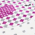 Designer children's rug, kids room rug with bird design Kids 0520 Pink