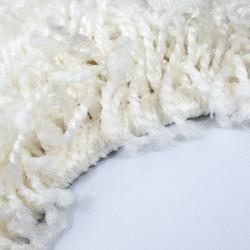 Shaggy carpet, high pile, long pile, living room, pile height 3cm, plain cream