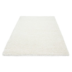 Shaggy carpet Rug living room pile height 3cm uni-colored cream