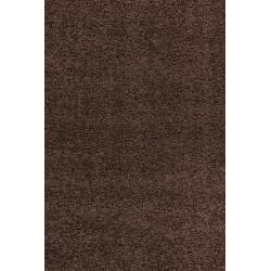 Tappeto shaggy tinta unita altezza pelo 5 cm marrone