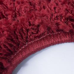 Soggiorno a pelo lungo a pelo lungo DREAM Tappeto Shaggy uni colore altezza del pelo 5 cm rosso