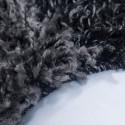 Shaggy pile living room Shaggy rug Black White gray plaid