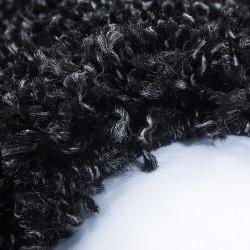 Alfombra pelo largo, pelo largo, pelo largo, pelo largo para salón, altura del pelo 3 cm, antracita unicolor
