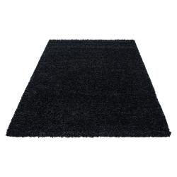 Hoogpolig tapijt, hoogpolig, langpolig, woonkamer hoogpolig, poolhoogte 3 cm, eenkleurig antraciet