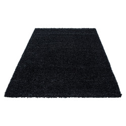 Shaggy carpet, high pile, long pile, living room shaggy, pile height 3cm, unicoloured anthracite
