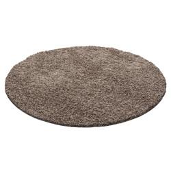Hoogpolig tapijt, poolhoogte 3 cm, effen mokka