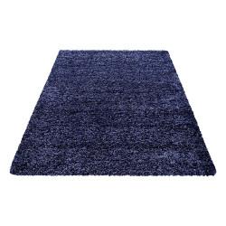 Tappeto shaggy, altezza pelo 3 cm, blu navy