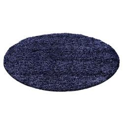 Hoogpolig tapijt, poolhoogte 3 cm, effen marineblauw
