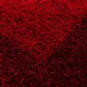 Structure à fibres longues Salon Shaggy Tapis 2 de Couleur Rouge et Bordeaux